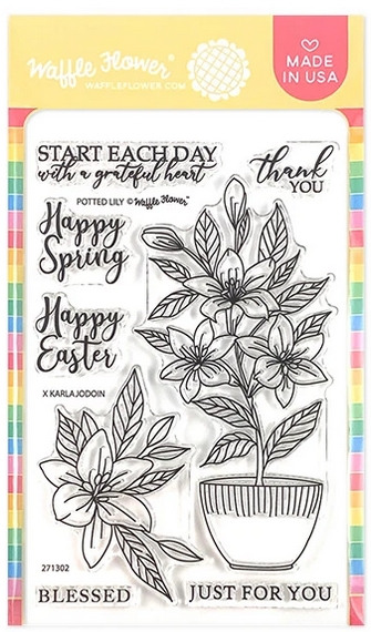 Waffle Flower POTTED LILY Clear Stamps 271302 zoom image