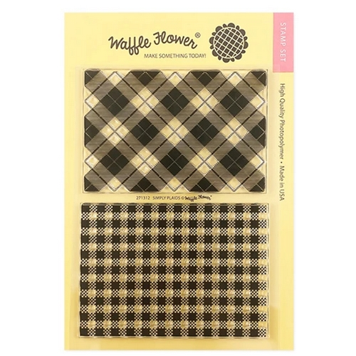 Waffle Flower SIMPLY PLAIDS Clear Stamps 271312 Preview Image