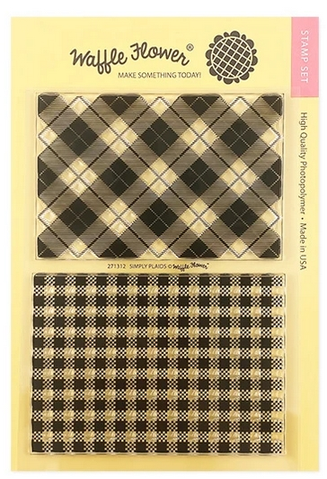 Waffle Flower SIMPLY PLAIDS Clear Stamps 271312 zoom image