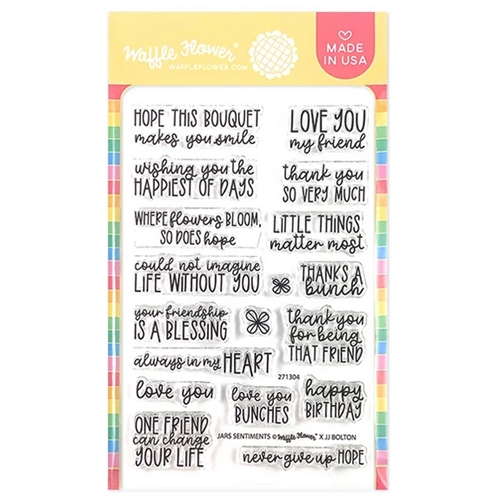 Waffle Flower JARS SENTIMENTS Clear Stamps 271304 Preview Image