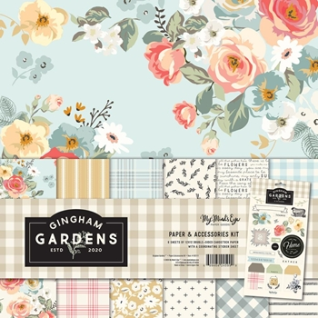 My Mind's Eye GINGHAM GARDENS 12 x 12 Paper And Accessories Kit gf2111