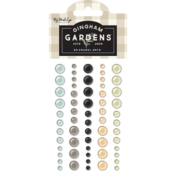My Mind's Eye GINGHAM GARDENS Enamel Dots gf2114