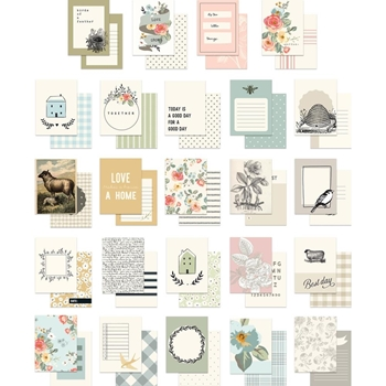 My Mind's Eye GINGHAM GARDENS Journal Cards gf2115