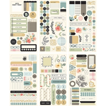 My Mind's Eye GINGHAM GARDENS Planner Sticker Set gf2121