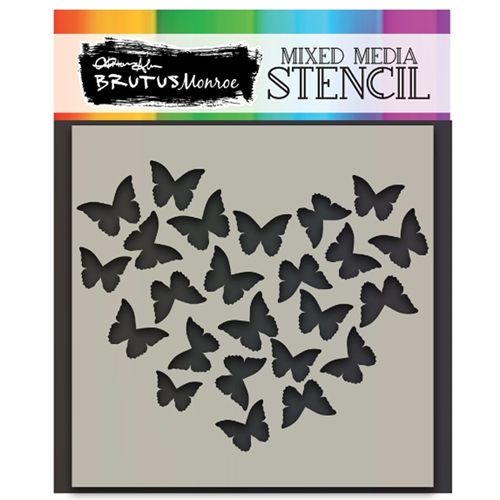 Brutus Monroe BUTTERFLY HEART Stencil bru2514 Preview Image