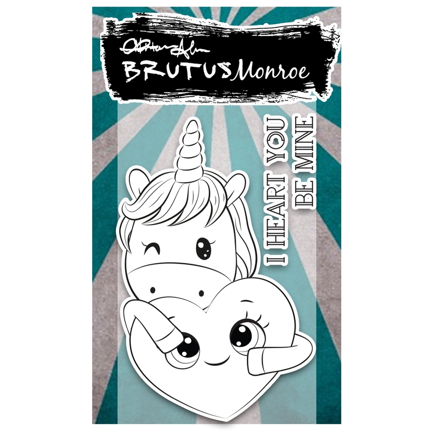Brutus Monroe UNICORN LOVE Clear Stamp bru2545 zoom image