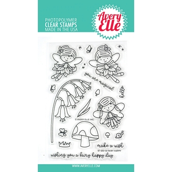 Avery Elle Clear Stamps FAIRY HAPPY ST-20-13