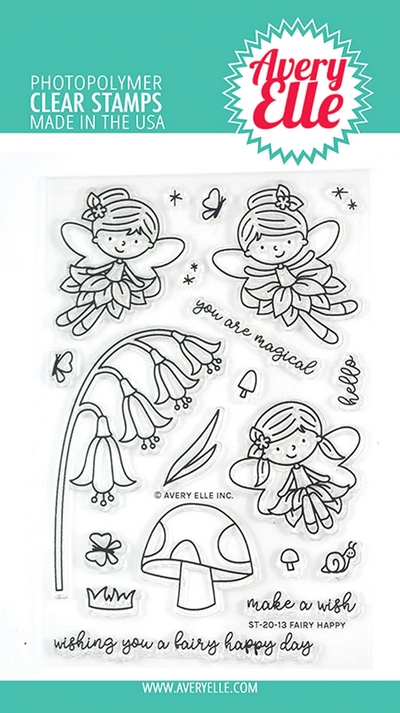 Avery Elle Clear Stamps FAIRY HAPPY ST-20-13 zoom image