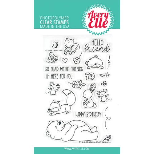 Avery Elle Clear Stamps BEARY GOOD FRIENDS ST-20-07 Preview Image
