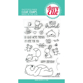 Avery Elle Clear Stamps BEARY GOOD FRIENDS ST-20-07