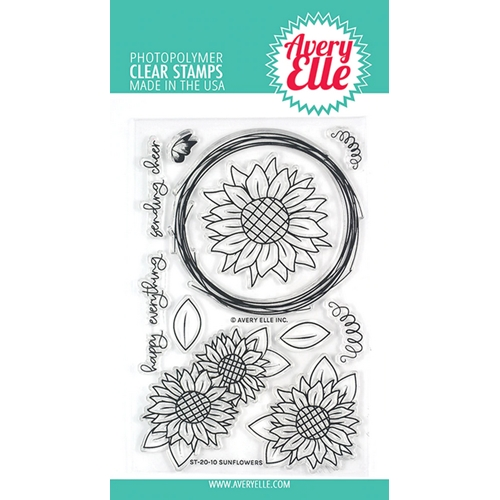 Avery Elle Clear Stamps SUNFLOWERS ST-20-10 Preview Image