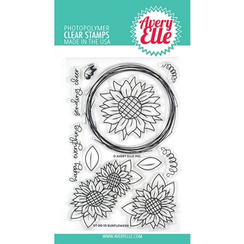 Avery Elle Clear Stamps SUNFLOWERS ST-20-10
