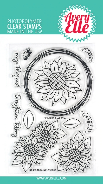 Avery Elle Clear Stamps SUNFLOWERS ST-20-10 zoom image