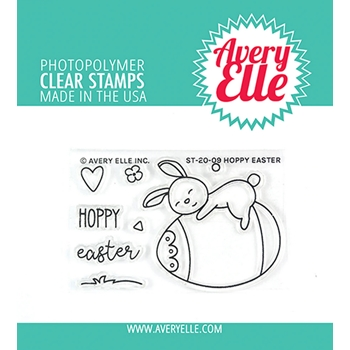Avery Elle Clear Stamps HOPPY EASTER ST-20-09