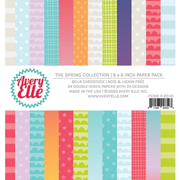 Avery Elle THE SPRING COLLECTION 6x6 Paper Pad P-20-01