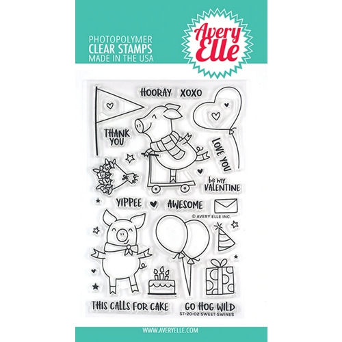 Avery Elle Clear Stamps SWEET SWINES ST-20-02 Preview Image
