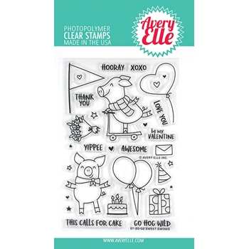Avery Elle Clear Stamps SWEET SWINES ST-20-02