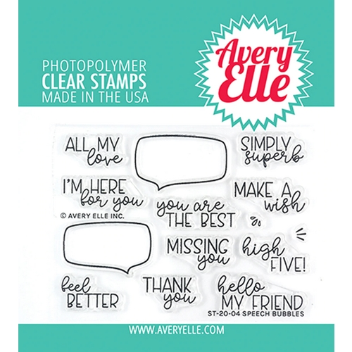 Avery Elle Clear Stamps SPEECH BUBBLES ST-20-04 Preview Image