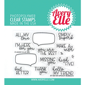 Avery Elle Clear Stamps SPEECH BUBBLES ST-20-04