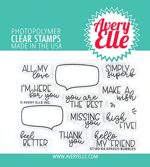 Avery Elle Clear Stamps SPEECH BUBBLES ST-20-04 zoom image