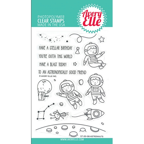 Avery Elle Clear Stamps ASTRONAUTS ST-20-08 Preview Image