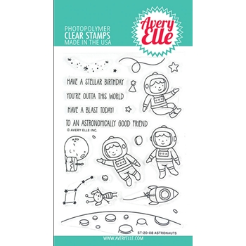 Avery Elle Clear Stamps ASTRONAUTS ST-20-08