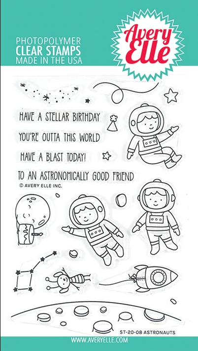Avery Elle Clear Stamps ASTRONAUTS ST-20-08 zoom image