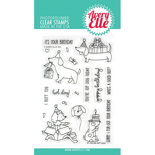 Avery Elle Clear Stamps HOT DOG ST-20-06 Preview Image