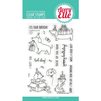 Avery Elle Clear Stamps HOT DOG ST-20-06