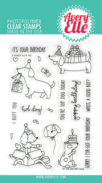 Avery Elle Clear Stamps HOT DOG ST-20-06 zoom image