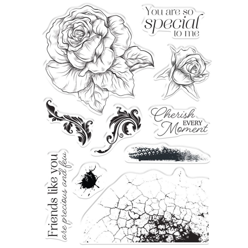 Crafter's Companion CHERISH EVERY MOMENT Clear Stamps collstpcem Preview Image