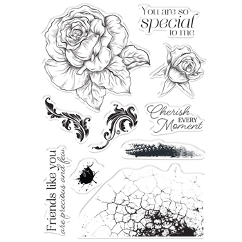 Crafter's Companion CHERISH EVERY MOMENT Clear Stamps collstpcem