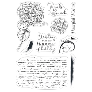 Crafter's Companion HEARTFELT WISHES Clear Stamps collstphewi