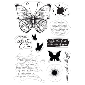 Crafter's Companion LET YOUR SPIRIT SOAR Clear Stamps collstplyss