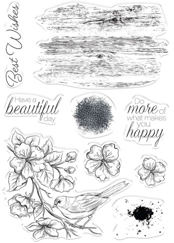 Crafter's Companion FEATHERED FRIEND Clear Stamps collstpfefr* zoom image