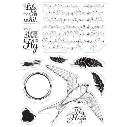 Crafter's Companion BORN TO FLY Clear Stamps collstpbtf* Preview Image