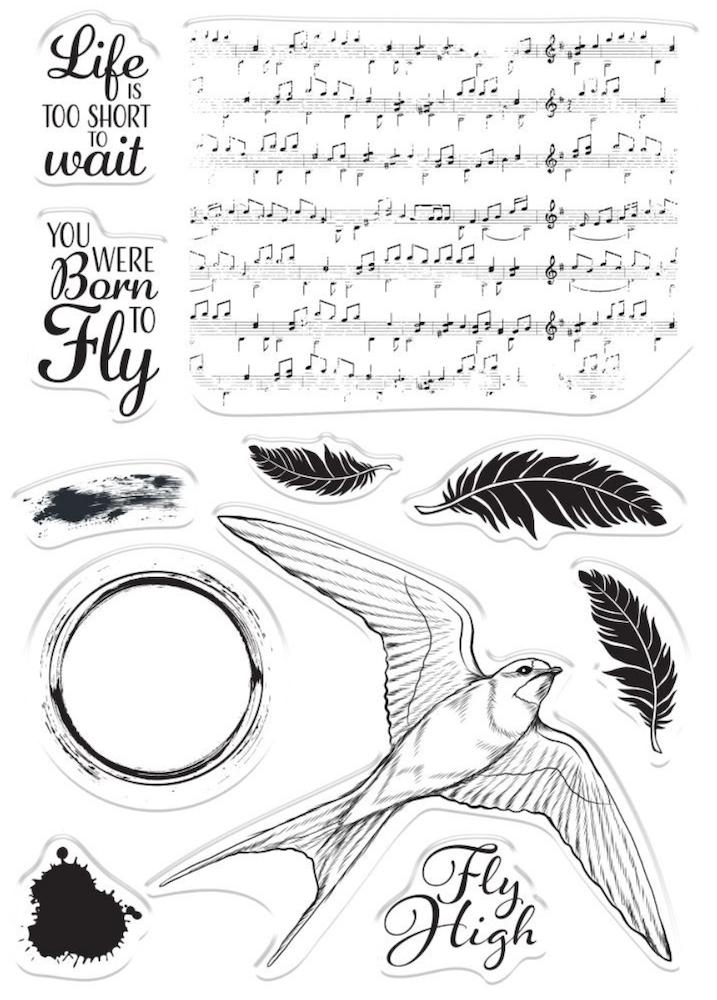 Crafter's Companion BORN TO FLY Clear Stamps collstpbtf* zoom image