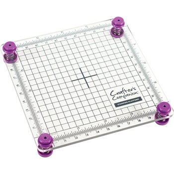 Crafter's Companion 4 x 4 STAMPING PLATFORM cctoolstplat4