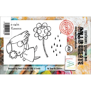 AALL & Create NO RAIN NO FLOWERS 317 A7 Clear Stamps aal00317