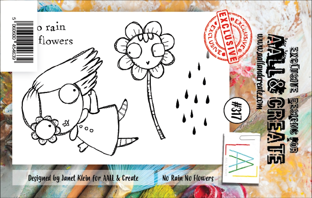 AALL & Create NO RAIN NO FLOWERS 317 A7 Clear Stamps aal00317 zoom image