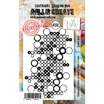 AALL & Create BUBBLE BLOCK 310 A7 Clear Stamp aal00310