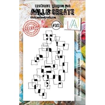 AALL & Create TANGLED RECTANGLES 303 A7 Clear Stamp aal00303