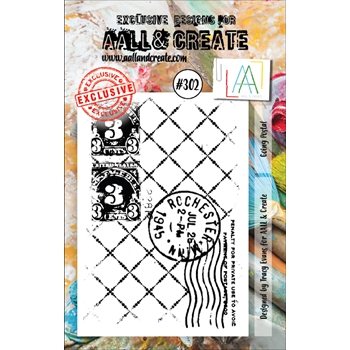 AALL & Create GOING POSTAL 302 A7 Clear Stamp aal00302