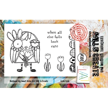 AALL & Create LOOK CUTE 300 A7 Clear Stamps aal00300