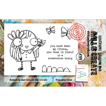 AALL & Create TREMENDOUS FRIEND 299 A7 Clear Stamps aal00299