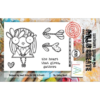 AALL & Create THE GIVING HEART 298 A7 Clear Stamps aal00298