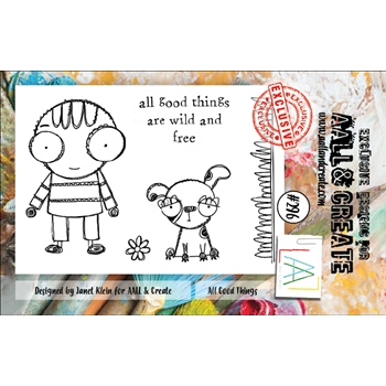 AALL & Create ALL GOOD THINGS 296 A7 Clear Stamps aal00296
