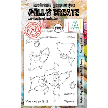 AALL & Create SQUEAKY FRIENDS 290 A6 Clear Stamps aal00290