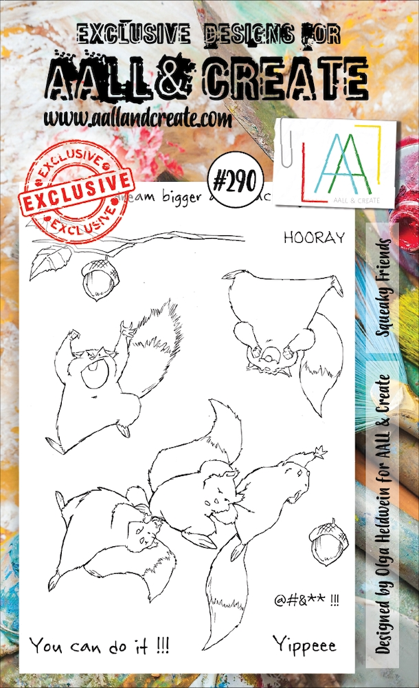 AALL & Create SQUEAKY FRIENDS 290 A6 Clear Stamps aal00290 zoom image