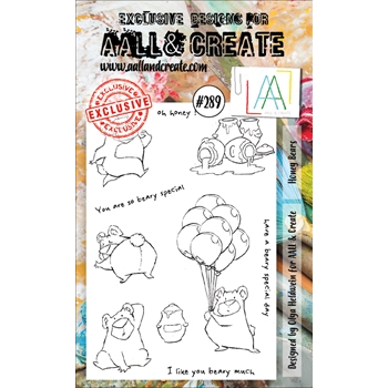 AALL & Create HONEY BEARS 289 A6 Clear Stamps aal00289